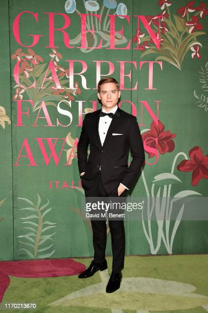 Dylan Sprouse wearing Hugo Boss attends The Green Carpet Fashion Awards Italia 2019 hosted by CNMI EcoAge at Teatro Alla Scala on September 22 2019...