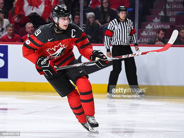 Dylan Strome of Team Canada skates during the IIHF exhibition game against Team Finland at the Bell Centre on December 19 2016 in Montreal Quebec...