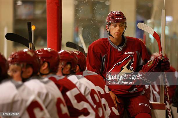 Dylan Strome of the Arizona Coyotes participates in the prospect development camp at the Ice Den on July 8 2015 in Scottsdale Arizona