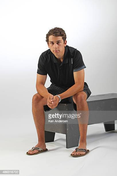 Dylan Strome of the Arizona Coyotes poses for an NHLPA Rookie Showcase portrait at the Westin Harbour Castle on August 312015 in Toronto Ontario...