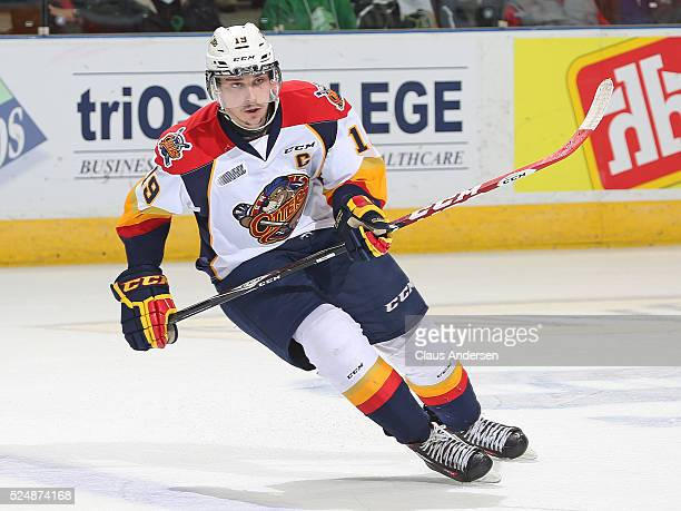 Dylan Strome of the Erie Otters skates against the London Knights in Game Three of the OHL Western Conference Final on April 26 2016 at Budweiser...