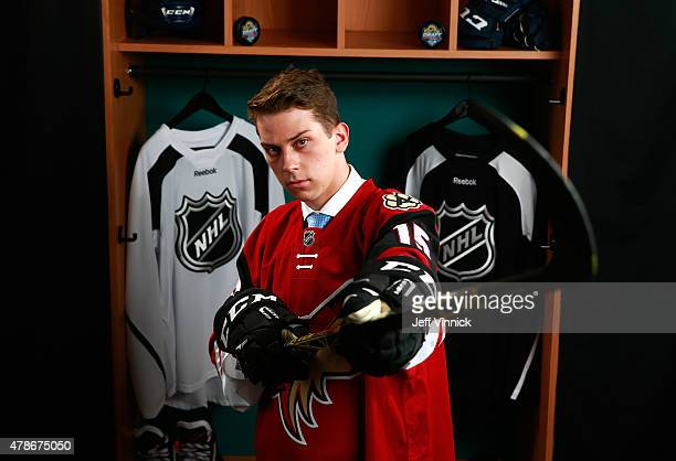 Dylan Strome poses for a portrait after being selected third overall by the Arizona Coyotes during Round One of the 2015 NHL Draft at BBT Center on...