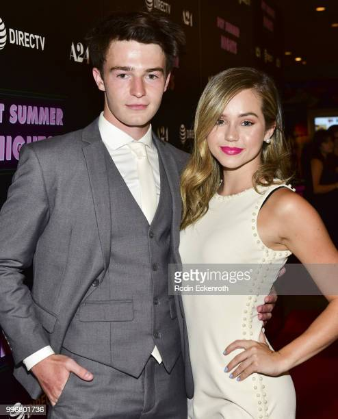 Dylan Summerall and Brec Bassinger arrives at the screening of A24's 'Hot Summer Nights' at Pacific Theatres at The Grove on July 11 2018 in Los...