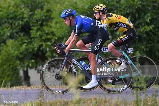 Dylan Sunderland of Australia and NTT Pro Cycling Team / Chris Harper of Australia and Team Jumbo - Visma / during the 77th Tour of Poland 2020,...