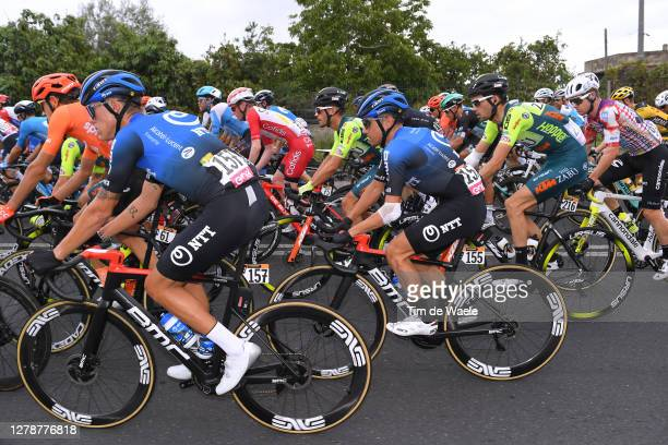 Dylan Sunderland of Australia and NTT Pro Cycling Team / Domenico Pozzovivo of Italy and NTT Pro Cycling Team / Peloton / during the 103rd Giro...