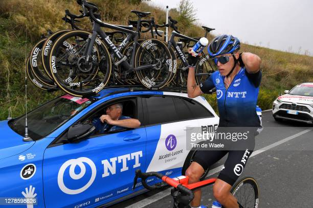Dylan Sunderland of Australia and NTT Pro Cycling Team / Feed Zone / Feeding / Car / during the 103rd Giro d'Italia 2020, Stage Three a 150km stage...