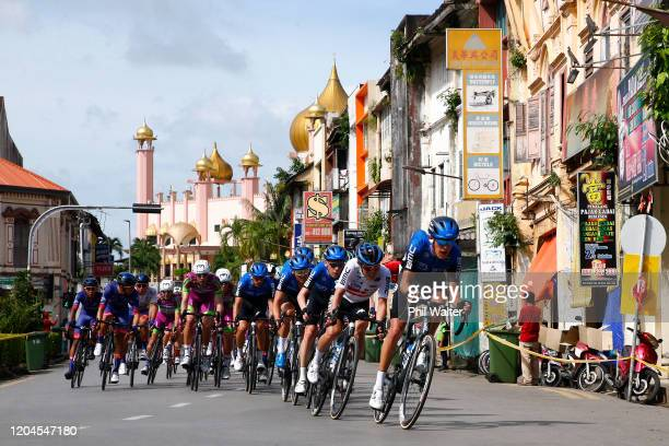 Dylan Sunderland of Australia and Team NTT Pro Cycling / Michael Carbel of Denmark and Team NTT Pro Cycling / Shotaro Iribe of Japan and Team NTT Pro...