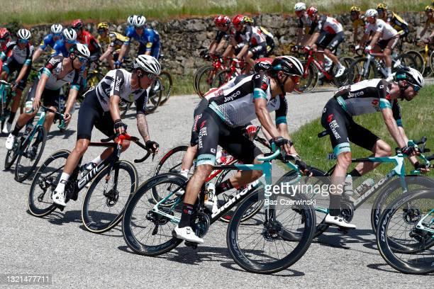 Dylan Sunderland of Australia and Team Qhubeka Assos & Andrey Zeits of Kazahkstan and Team BikeExchange during the 73rd Critérium du Dauphiné 2021,...
