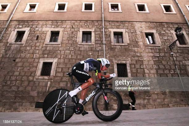 Dylan Sunderland of Australia and Team Qhubeka Nexthash competes during the 76th Tour of Spain 2021, Stage 1 a 7,1km individual time trial from...