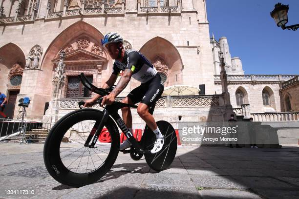 Dylan Sunderland of Australia and Team Qhubeka Nexthash prepares for the race prior to the 76th Tour of Spain 2021, Stage 1 a 7,1km individual time...