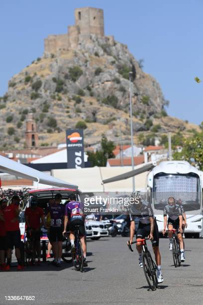 Dylan Sunderland of Australia and Team Qhubeka Nexthash prepares for the race prior to the 76th Tour of Spain 2021, Stage 13 a 203,7km stage from...