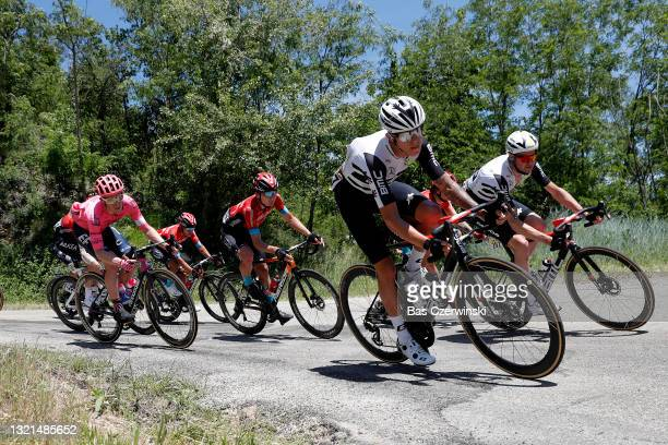 Dylan Sunderland of Australia & Sander Armee of Belgium and Team Qhubeka Assos during the 73rd Critérium du Dauphiné 2021, Stage 5 a 175,4km stage...