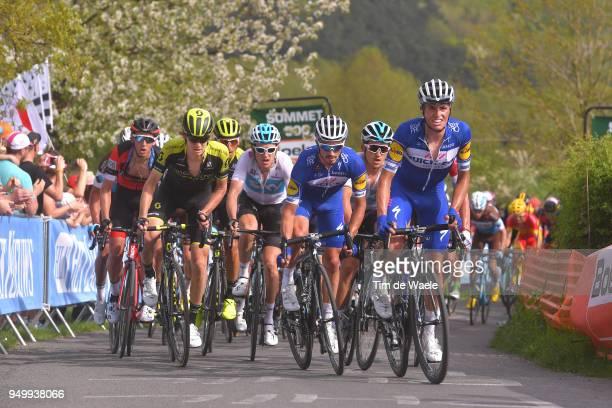 Dylan Teuns of Belgium and BMC Racing Team / Jack Haig of Australia and Team MitcheltonScott / Geraint Thomas of Great Britain and Team Sky / Julian...
