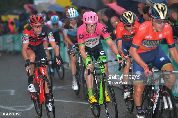 Dylan Teuns of Belgium and BMC Racing Team / Michael Woods of Canada and Team EF Education First Drapac P/B Cannondale / Vincenzo Nibali of Italy and...
