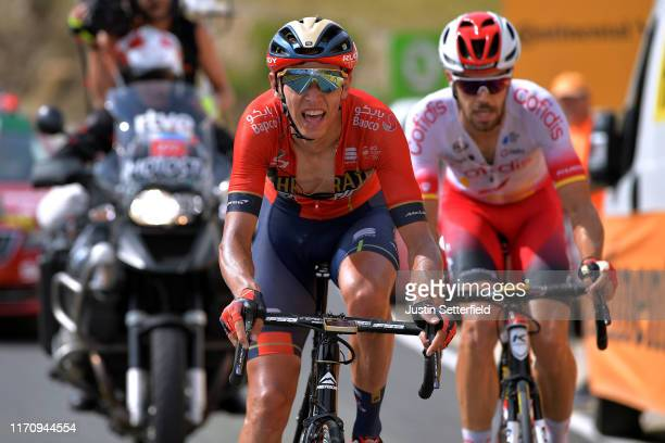 Dylan Teuns of Belgium and Team Bahrain-Merida / Jesus Herrada Lopez of Spain and Team Cofidis Solutions Credits / during the 74th Tour of Spain...