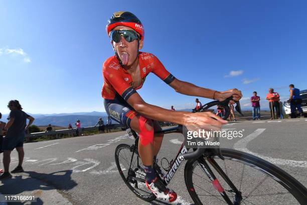 Dylan Teuns of Belgium and Team Bahrain-Merida / Puerto del Acebo - Santuario del Acebo / during the 74th Tour of Spain 2019, Stage 15 a 154,4km...