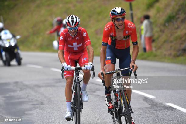 Dylan Teuns of Belgium and Team Bahrain-Merida / Sebastien Reichenbach of Switzerland and Team Groupama-FDJ / during the 106th Tour de France 2019,...