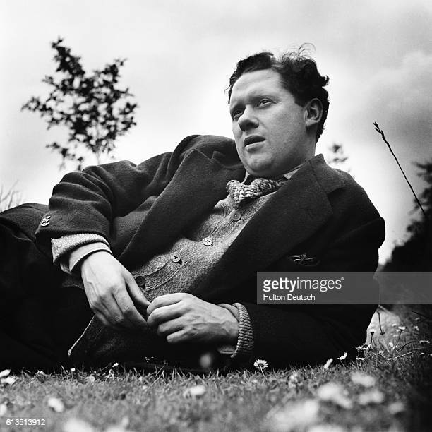 Dylan Thomas the Welsh poet born in Swansea the son of a schoolmaster His works include Twenty Five Poems and Portrait of the Artist as a Young Dog...