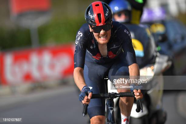 Dylan Van Baarle of Netherlands and Team INEOS Grenadiers during the 75th Dwars Door Vlaanderen 2021, Men's Elite a 184,1km race from Roeselare to...