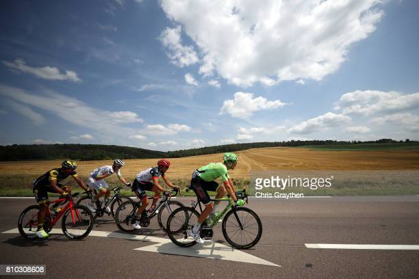 Dylan Van Baarle of Netherlands riding for Cannondale Drapac rides in the breakaway during stage seven of the 2017 Le Tour de France, a 213.5km stage...