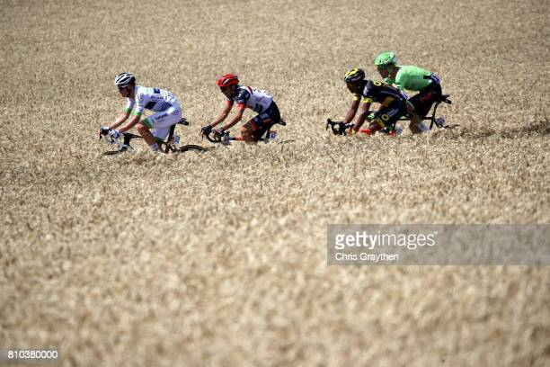 Dylan Van Baarle of Netherlands riding for Cannondale Drapac rides in the breakaway during stage seven of the 2017 Le Tour de France a 2135km stage...
