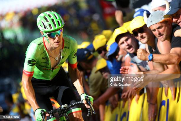 Dylan Van Baarle of Netherlands riding for Cannondale Drapac rides during stage five of the 2017 Le Tour de France, a 160.5km stage from Vittel to La...