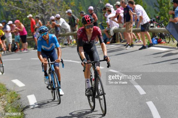Dylan van Baarle of The Netherlands and Team INEOS / Andrey Amador of Costa Rica and Movistar Team / Public / Fans / during the 106th Tour de France...