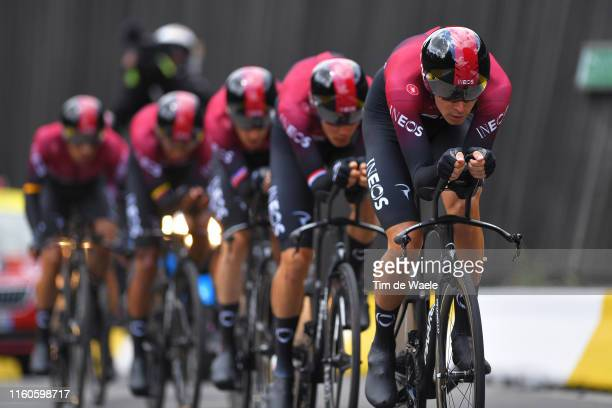 Dylan van Baarle of The Netherlands and Team INEOS / during the 106th Tour de France 2019 Stage 2 a 276 Team Time Trial stage from Bruxelles Palais...