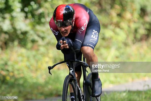 Dylan van Baarle of The Netherlands and Team INEOS / during the 16th Tour of Britain 2019, Stage 6 a 14,4km stage from Pershore to Pershore / ITT /...