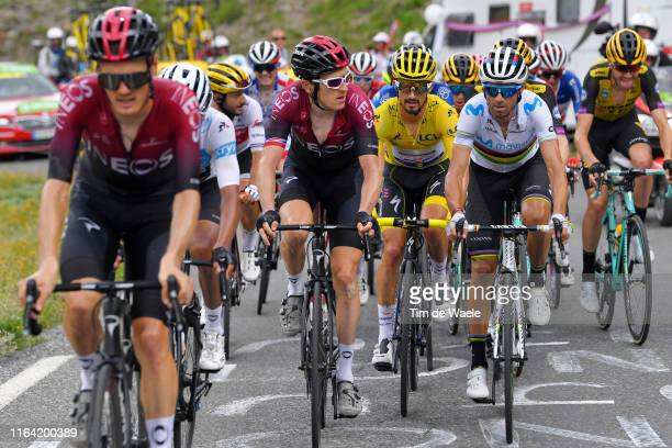 Dylan van Baarle of The Netherlands and Team INEOS / Egan Bernal of Colombia and Team INEOS White Best Young Jersey / Geraint Thomas of United...