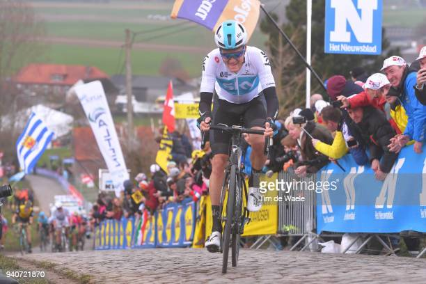 Dylan Van Baarle of The Netherlands and Team Sky / Paterberg / during the 102nd Tour of Flanders 2018 - Ronde Van Vlaanderen a 264,7km race from...