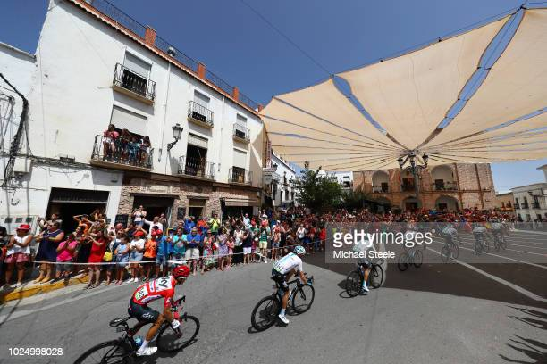 Dylan Van Baarle of The Netherlands and Team Sky / Pavel Sivakov of Russia and Team Sky / Salvatore Puccio of Italy and Team Sky / Jonathan...