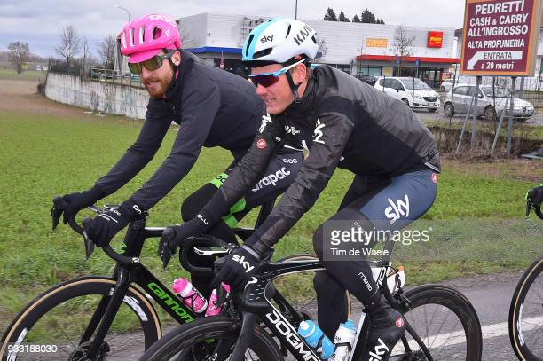 Dylan Van Baarle of The Netherlands and Team SKY / Taylor Phinney of The United States and Team EF Education FirstDrapac p/b Cannondale / during the...