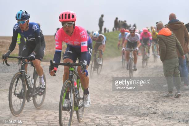 Dylan van Baarle of The Netherlands and Team Team Sky / Sebastian Langeveld of The Netherlands and Team EF Education First / Cobblestones / Gravel...