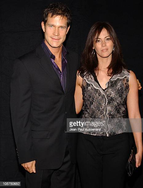 Dylan Walsh and Joanna Going during FX Networks Nip/Tuck 3rd Season Premiere Screening Arrivals at El Capitan Theatre in Hollywood California United...