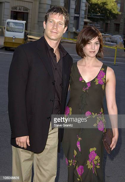 Dylan Walsh Joanna Going during Blood Work Premiere at Steven J Ross Theater in Burbank California United States