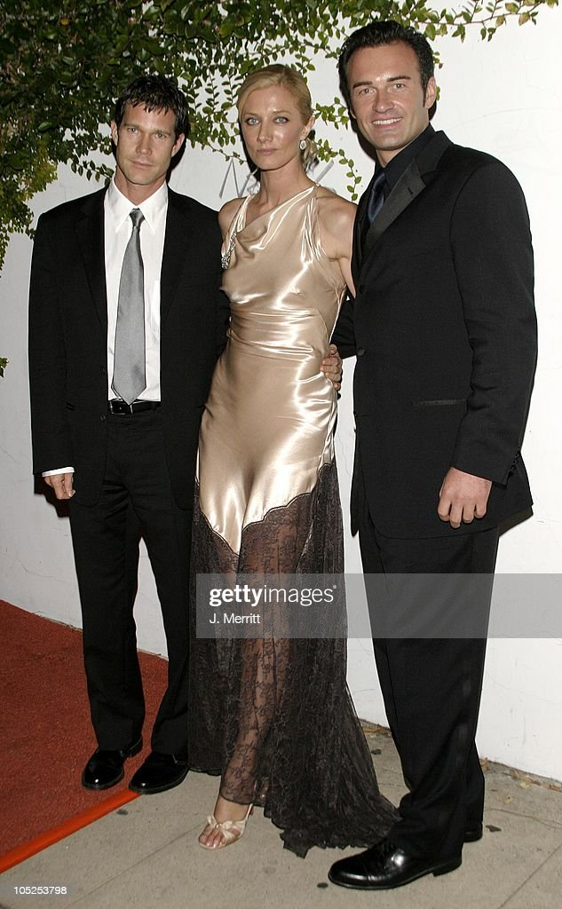 Dylan Walsh, Joely Richardson, and Julian McMahon during 20th Century Fox Emmy After Party At Morton's at Morton's Restaurant in Los Angeles, California, United States.