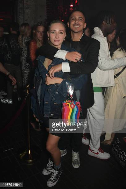 Dylan Weller and Col3trane attend the LFW opening party hosted by Christian Louboutin The Face at Jack Solomons on September 13 2019 in London England