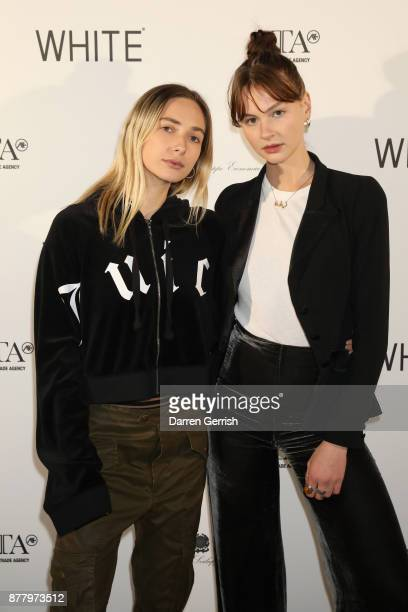 Dylan Weller and Sabella attend the WHITE cocktail party hosted by Italian Trade Agency at Ambika P3 on November 23 2017 in London England