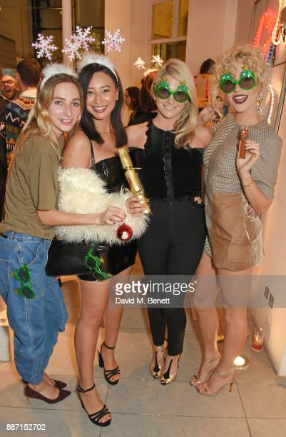Dylan Weller Leah Weller CharlieAnn Lott and Pixie Lott attend the Stella McCartney Christmas Lights 2017 party on December 6 2017 in London England