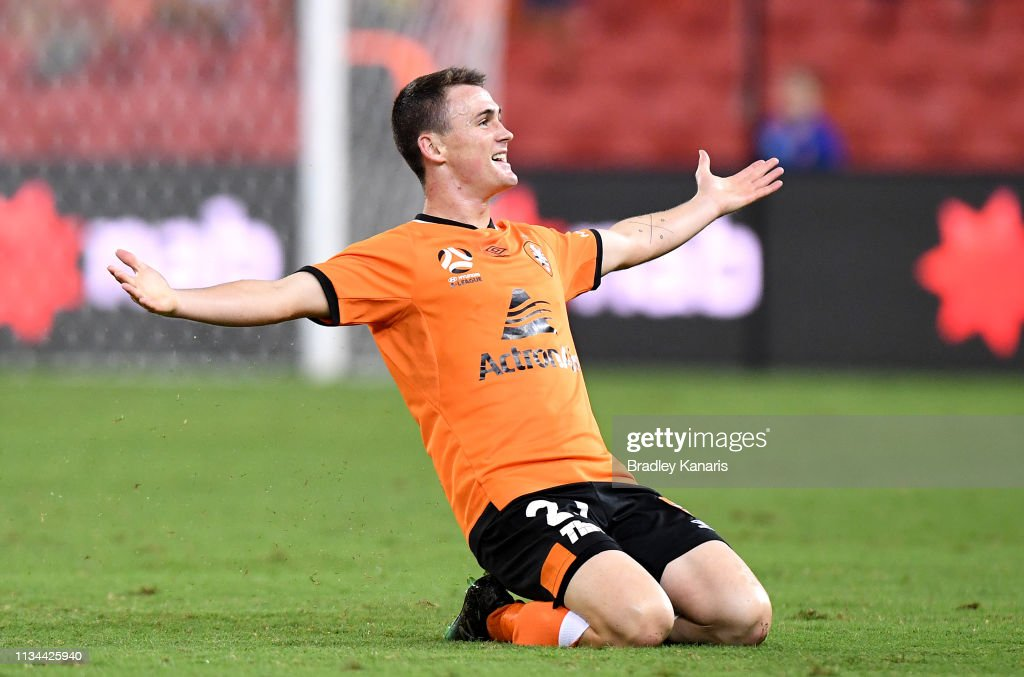 A-League Rd 21 - Brisbane v Western Sydney : News Photo