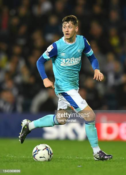 Dylan Williams of Derby County during the Sky Bet Championship match between West Bromwich Albion and Derby County at The Hawthorns on September 14,...