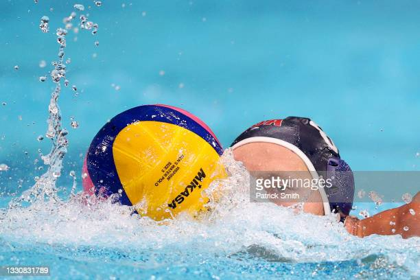 Dylan Woodhead of Team United States in action during the Men's Preliminary Round Group A match between South Africa and the United States on day...