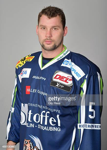 Dylan Yeo of Straubing Tigers during the portrait shot on august 15, 2014 in Straubing, Germany.