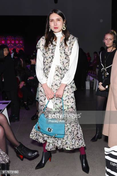 Dylana Suarez attends Anna Sui Front Row February 2018 New York Fashion Week at Spring Studios on February 12 2018 in New York City