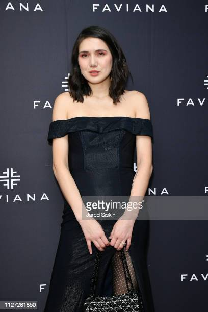 Dylana Suarez attends Faviana's Annual Oscars Red Carpet Viewing Party on February 24 2019 at 75 Wall St in New York City