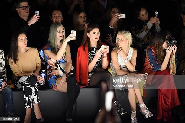 Dylana Suarez Caro Duar Stefanie Giesinger Bonnie Strange and Ines Rau attend Desigual fashion show during Fall 2016 New York Fashion Week The Shows...