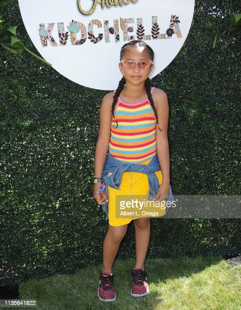 Dylilah VargasTafoya arrives for Clubhouse Kidchella held at Pershing Square on April 6 2019 in Los Angeles California