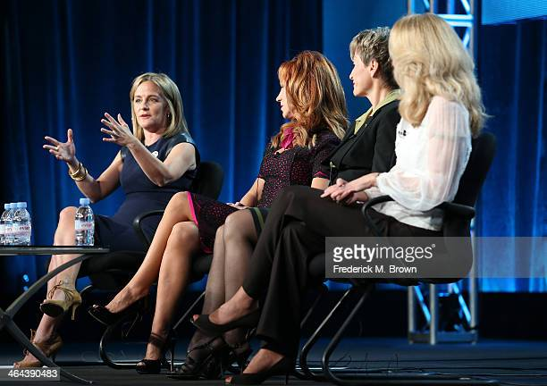 Dyllan McGee cofounder of MAKERS initiative Kathy Griffin actress and comedienne Peggy Whitson NASA astronaut and Valerie Plame author and former CIA...