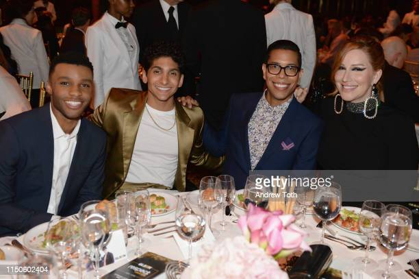 Dyllon Burnside Angel Bismark Curiel Steven Canals and Our Lady J attend the 2019 GLSEN Respect Awards at Cipriani 42nd on May 20 2019 in New York...